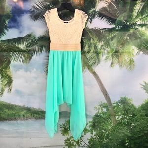 Rue21 Lace Top Asymmetrical Dress